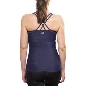 Skins A200 Koszulka do biegania bez rękawów Kobiety niebieski